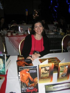 Author Shoshanna Evers at the Romanticon Book Signing