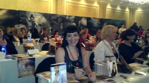 Shoshanna Evers signing books at Romanticon 2012