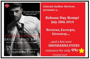 Release Day Romp The Tycoon's Convenient Bride...and Baby by Shoshanna Evers